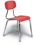 "3/8"" Solid Plastic Stacking Chair"