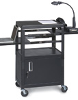 Dual Adjustable Utility Cart with Cabinet