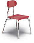 "5/8""Solid Plastic Stack Chairs"