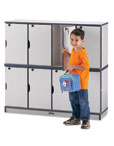 Rainbow Accents Stacking Lockable Lockers