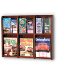 Oak and Acrylic Wall Rack Displays