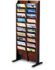 Oak Magazine Floor Rack Displays