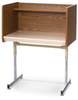 Pedestal Base Carrel
