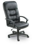 High Back Plush Leather Chair
