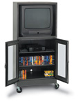 Mobile Video Storage Cabinet