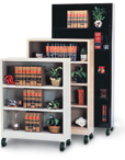 Mobile and Stationary Colorful Bookcase