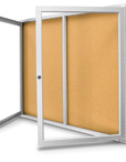 Indoor or Outdoor Use Enclosed Corkboards