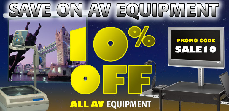 10% Off All AV Equipment