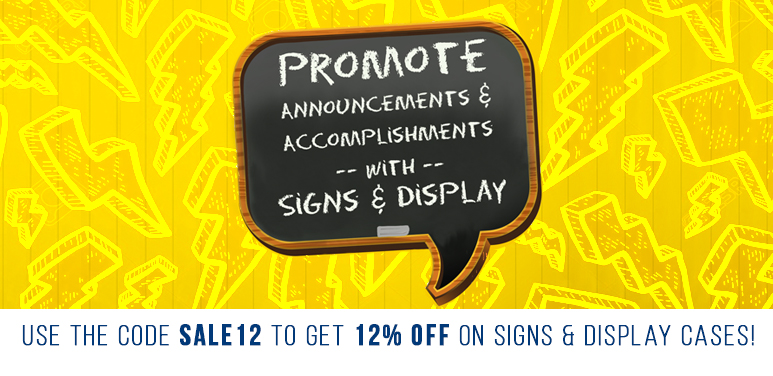 12% Off Signs & Display Cases