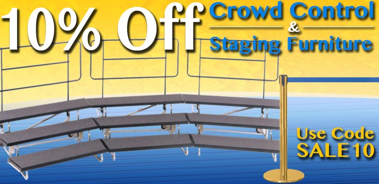 10% Off Crowd Control & Staging Furniture