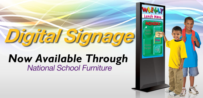 Digital Signage Now Available Through National School Furniture